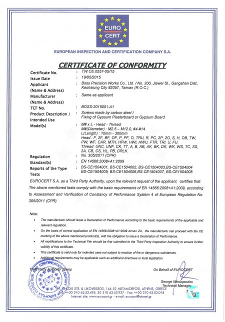 CEEN:14566 Certificates approved on May 19 2015