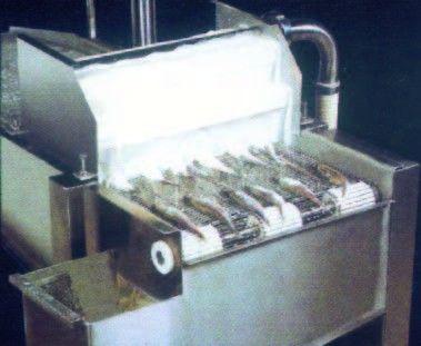 Put fishes into machine