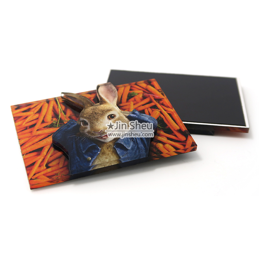 Dual Layers Acrylic Fridge Magnets