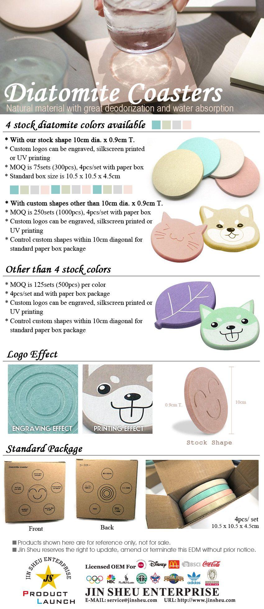 Custom Logo Diatomite Coasters