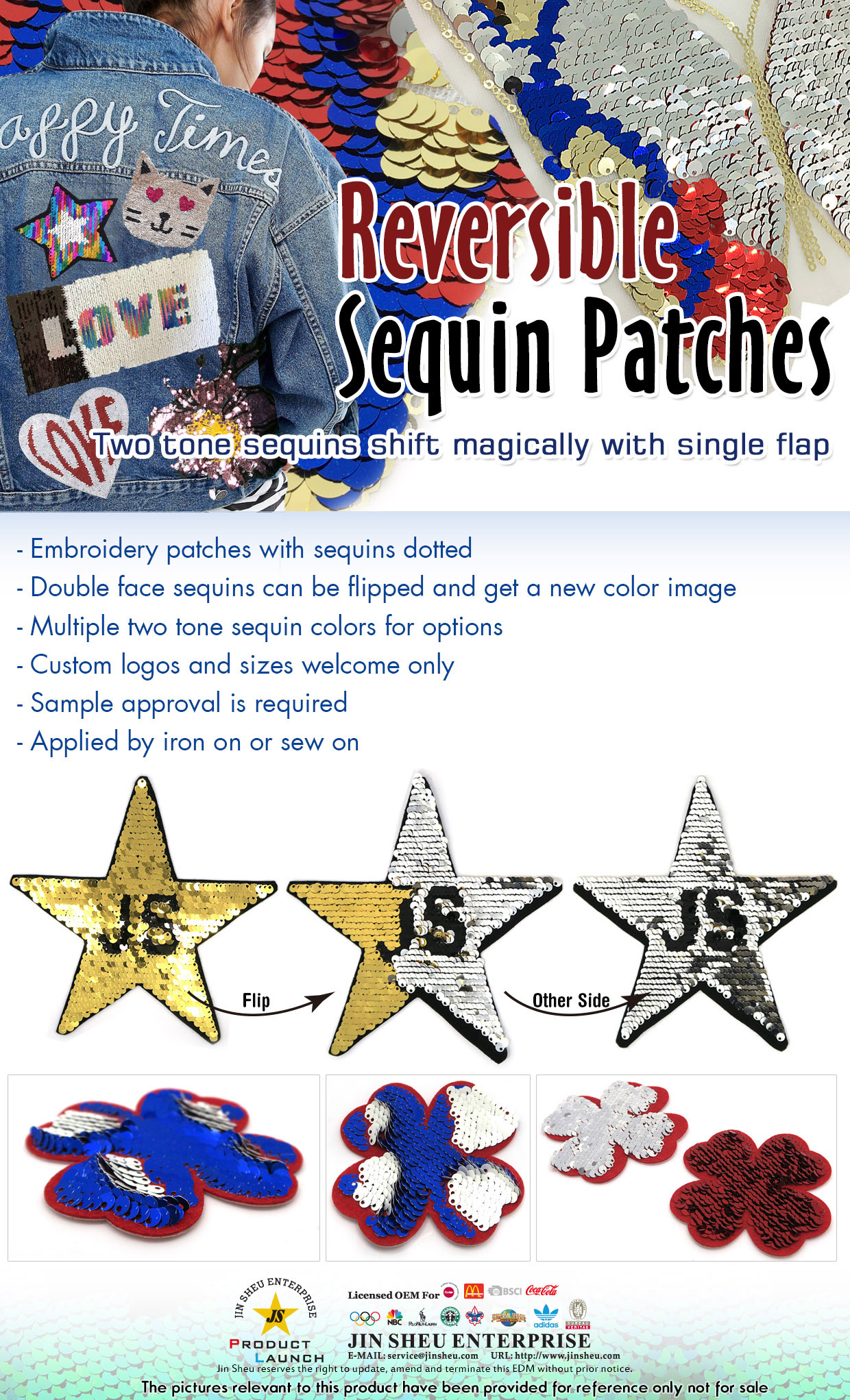 Reversible Sequin Patches