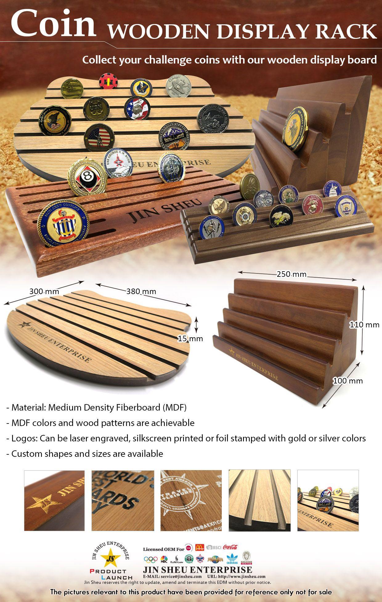 Wooden Coin Display Racks