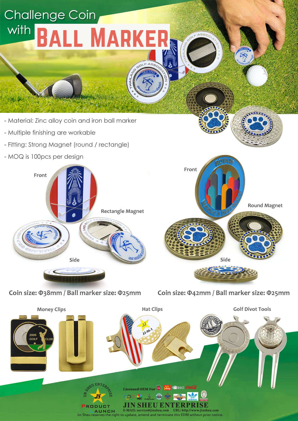 EDM golf coin marker