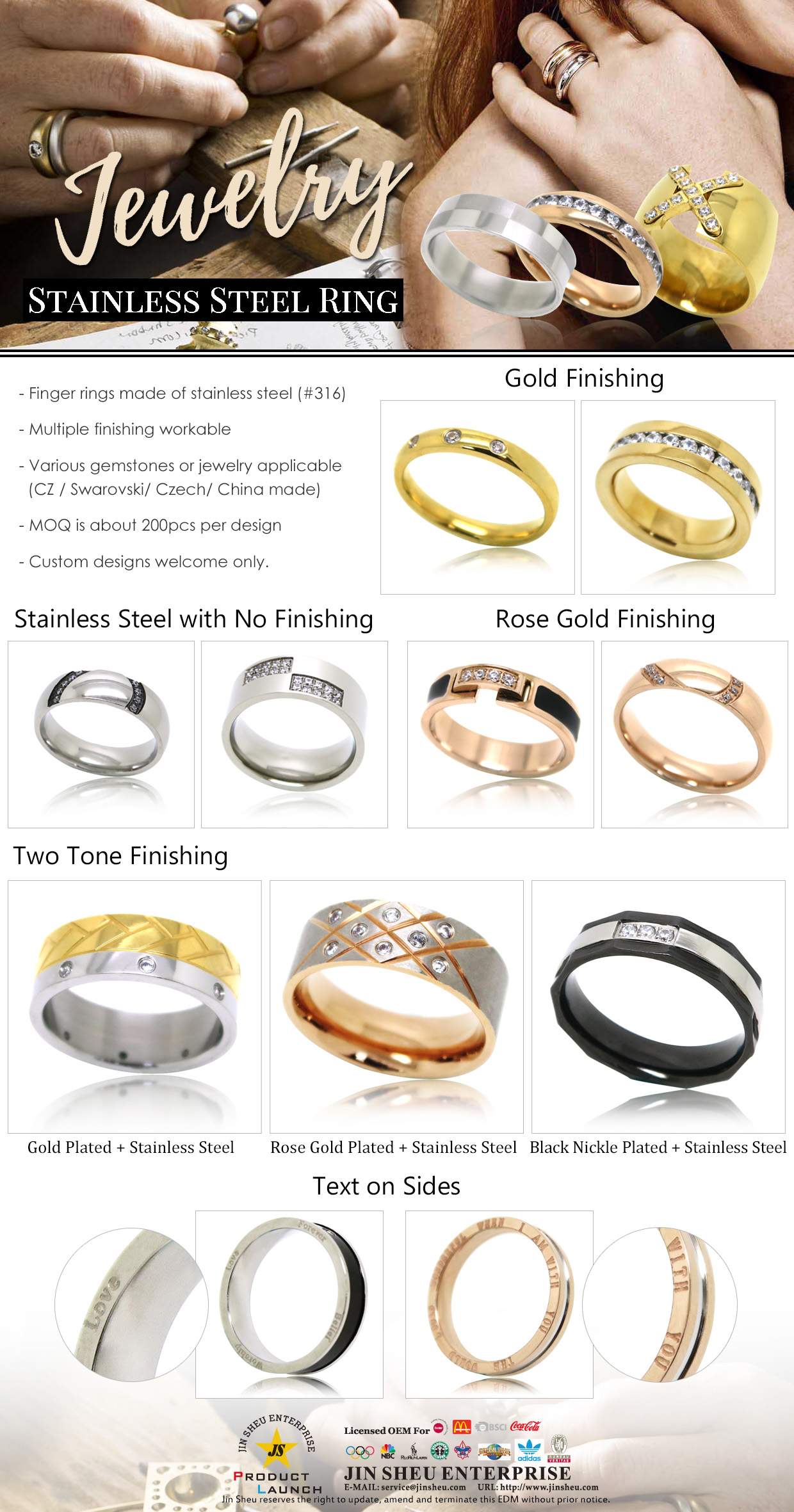 EDM stainless steel ring