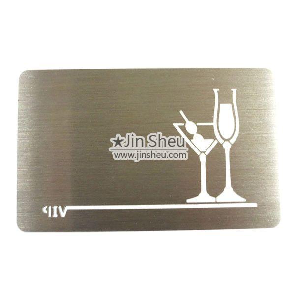 Spiegeleffekt metall visitenkarte geschenk und - Metall visitenkarten ...