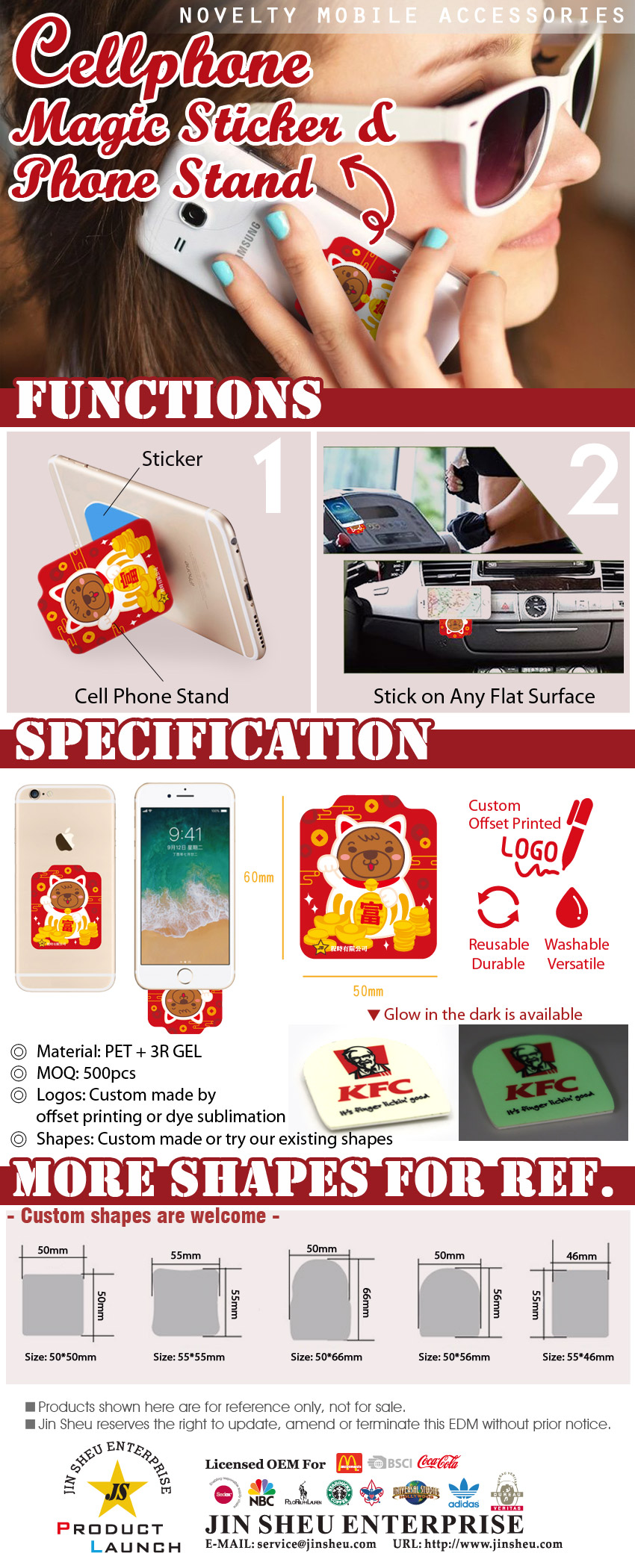 Cellphone Magic Sticker & Phone Stand