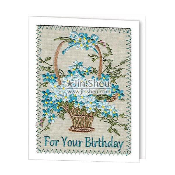 Custom Embroidery Greeting Cards