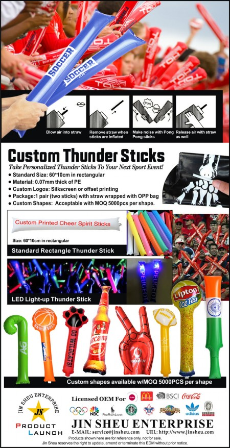 Custom Thunder Sticks - One-stop supplier of high-quality custom thunder sticks