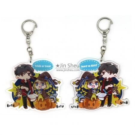 Dual printing Acrylic Key Tags - Japan anime acrylic charm chains