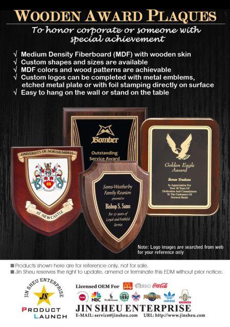 Wooden Award Plaques - Wooden Award Plaques