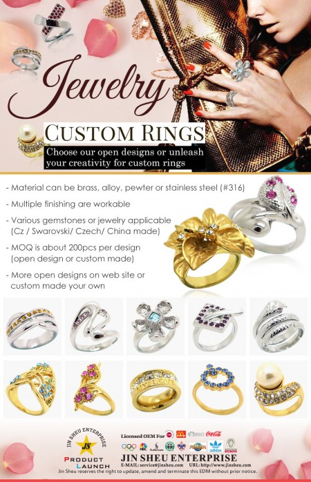 Jewelry Custom Rings - EDM Metal Ring Jewelry