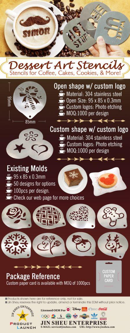 Dessert Art Stencils - Dessert Art Stencils