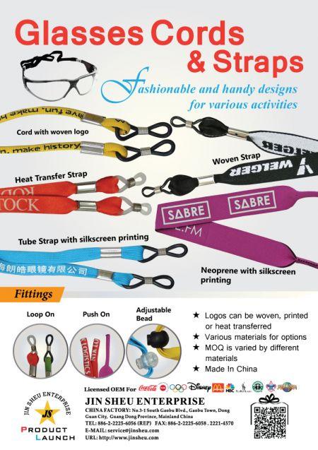 Glasses Cords & Straps - printable eyewear retainers straps