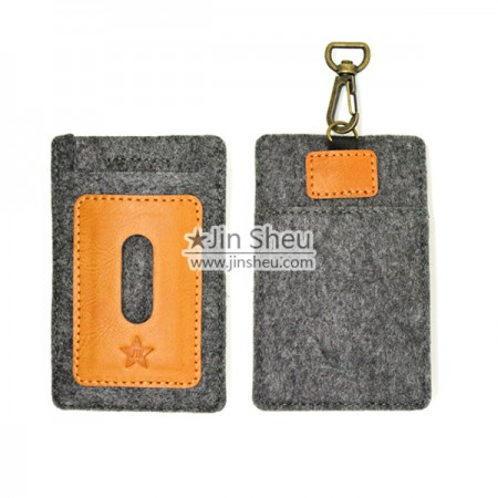 Felt & Leather Card Holder - Felt & Leather Card Holder