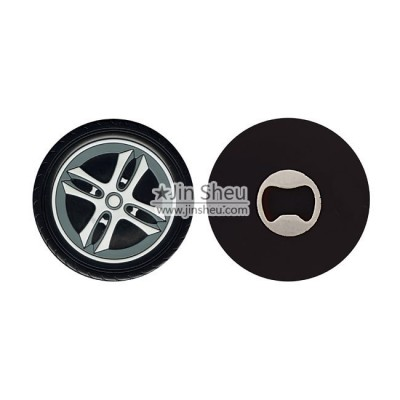 Car Wheel PVC Bottle Opener - Car Wheel PVC Bottle Opener