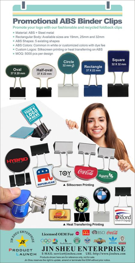 Promotional ABS Binder Clips - Personalized Binder Clips