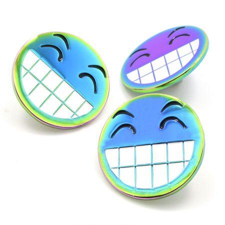Custom Rainbow plated Lapel pins - Custom Rainbow pins maker