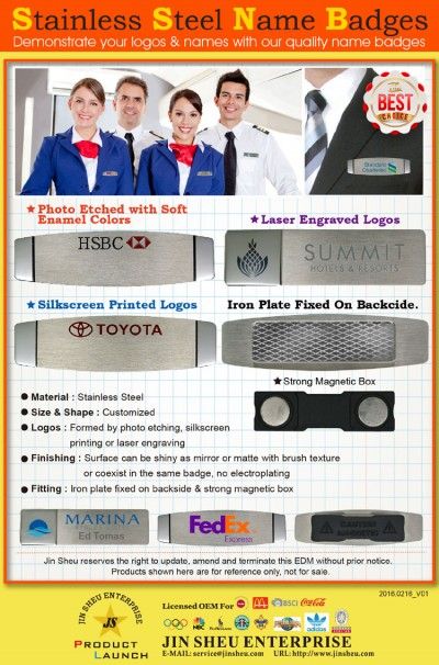 Stainless Steel Name Badges - Stainless Steel Name Badges