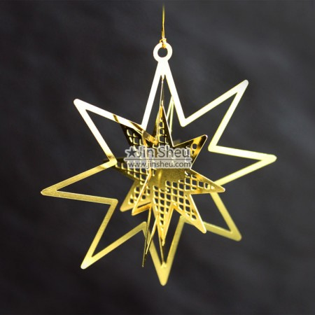 Christmas Tree Ornaments - Star-shaped Christmas Bauble