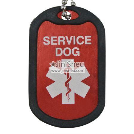 Anodized Aluminum Silencer Dog Tags - Military Silencer Dog Tags