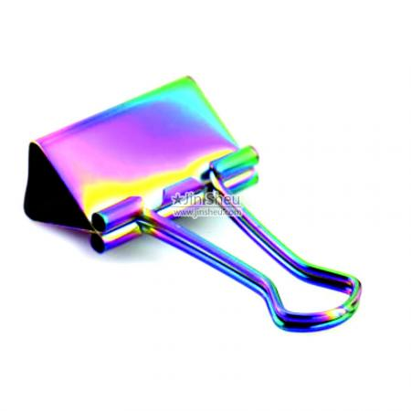 Promotional Rainbow Binder Clips - stationery clamp