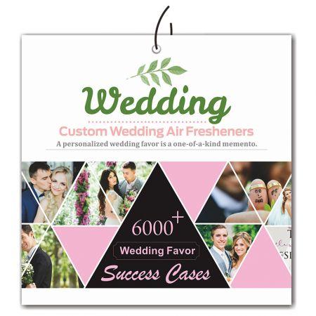 Wedding Air Paper Fresheners - Custom Wedding Gifts