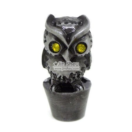 Owl pencil topper - Metal Owl pencil cover