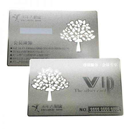 Metal VIP Member Cards - Nickel VIP Member Card