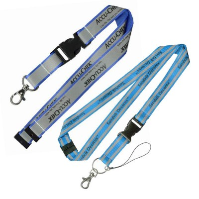 Reflective Lanyards- Overlay & Printing on Top - Safety breakaway reflective lanyards