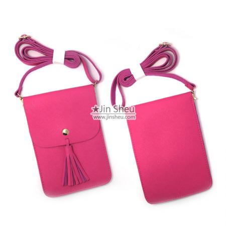 crossbody small mini moble phone bags with tassel