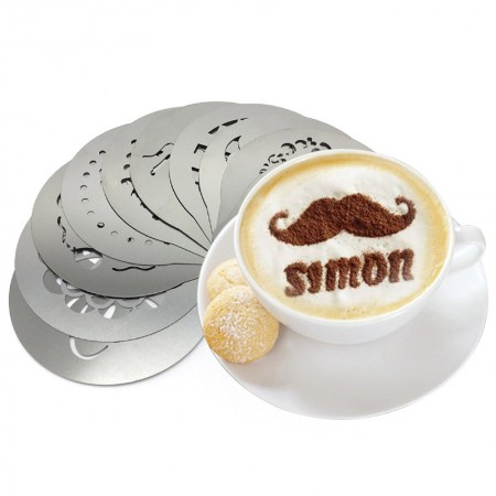 Decorating Tool Coffee Stencils - Decorating Tool Coffee Stencils