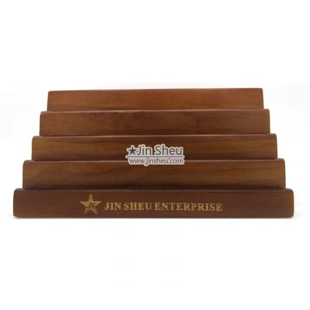 stair shape wood coin displays