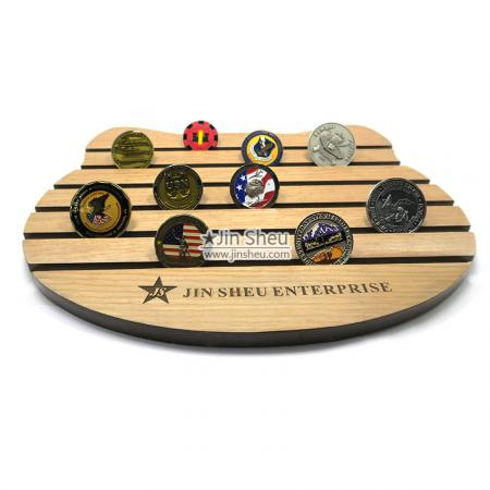 challenge coins wood collectible holders