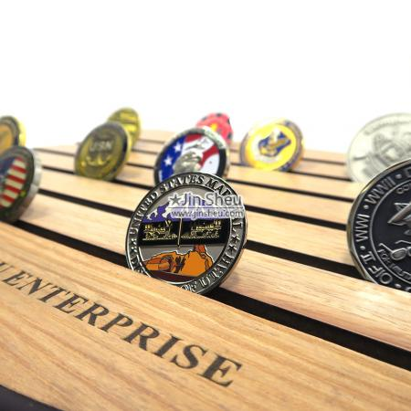 wooden coin displays