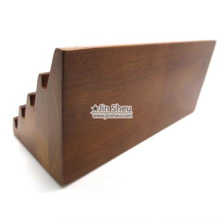 brown wood coin rack display