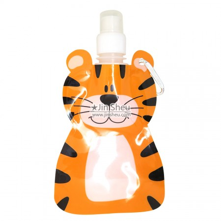 Tiger Collapsible Water Bottles