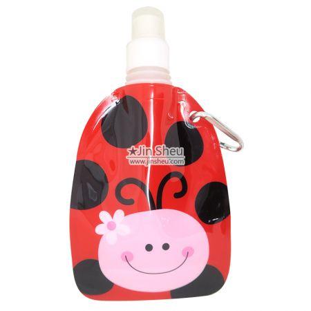 Ladybug Collapsible Water Bottles