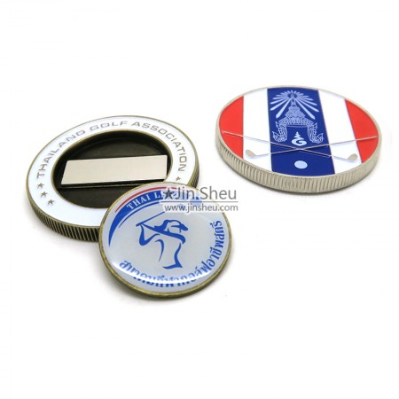 Zinc alloy coin ball markers