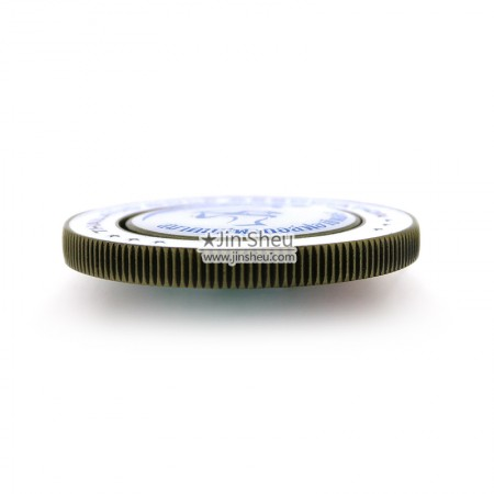 Zinc alloy coin ball markers side view