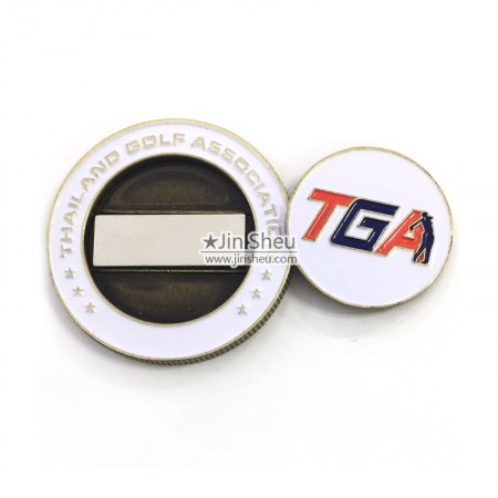 Golf Coin with Ball Markers - Golf Ball Marker Souvenir Coins