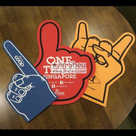 Giant Foam Finger - Giant Foam Finger with Custom Logo Printing