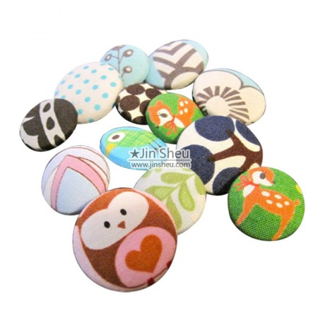 Fabric Button Badge - Fabric Button Badge