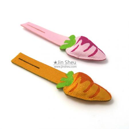 Carrot Woven Puffed Zip Puller - Carrot Woven Puffed Zip Puller