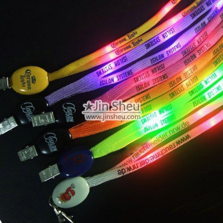 LED Flashing Lanyards - LED Flashing Lanyards with Custom Logo
