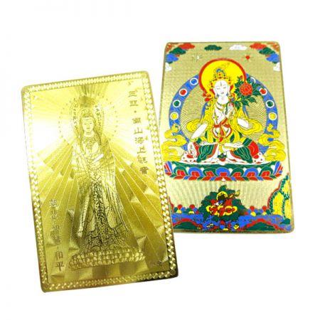 Religious Gold Metal Card - Religious Gold Metal Card