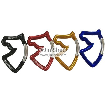 Horse Head Shaped Carabiner - Horse Head Shaped Carabiner