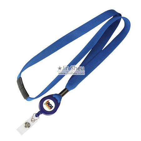 Lanyard with Retractable Card Holder - Lanyard with Retractable Card Holder
