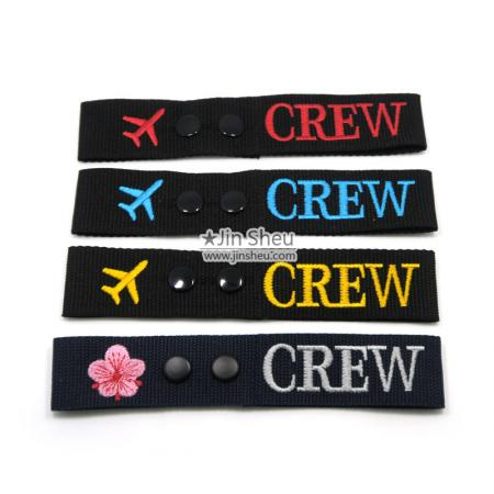 custom embroidered flight crew tags