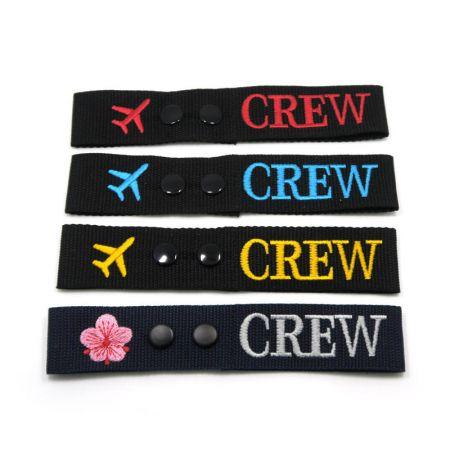 custom embroidered flight crew tags