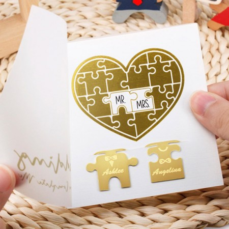 Wedding Jigsaw Puzzle Bookmarks - Wedding Jigsaw Puzzle Bookmarks
